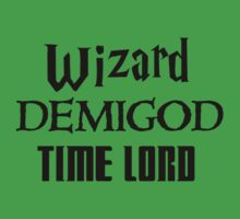 Fandoms: Wizard, Demigod, Time Lord Kids Clothes