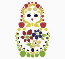 Fruit Matryoshka Doll One Piece - Short Sleeve