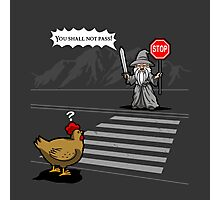 Why the chicken could not cross the road Photographic Print
