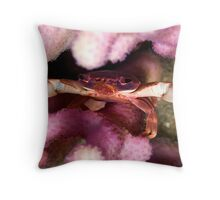 Purple coral crab Throw Pillow