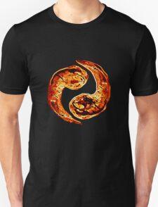Flaming ying and yang Unisex T-Shirt