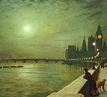 Reflections on the Thames by Bridgeman Art Library