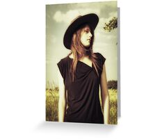 Sullen in a Stetson Greeting Card