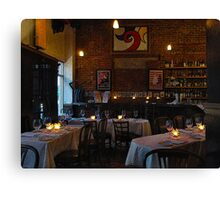 French Restaurant Ambiance Canvas Print