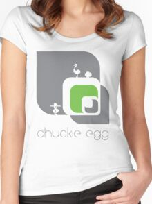 Chuckie Egg Women's Fitted Scoop T-Shirt