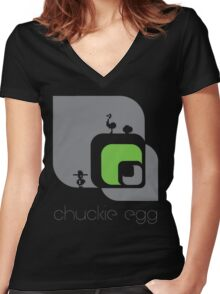 Chuckie Egg Women's Fitted V-Neck T-Shirt