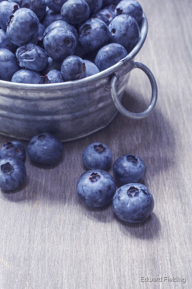 Vintage Blueberries by Edward Fielding