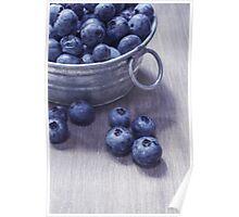 Vintage Blueberries Poster