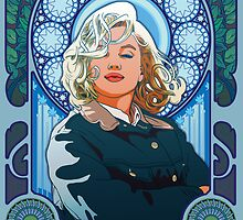 Marilyn Monroe in Mucha by bronkula