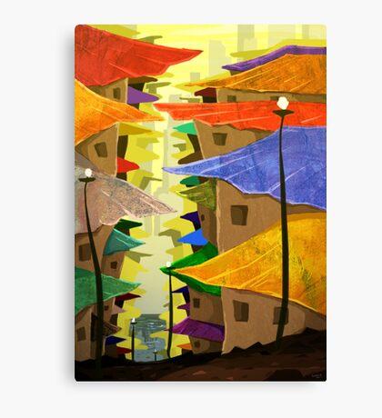 Stock Houses Canvas Print