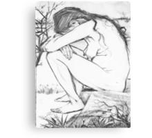 Sorrow (After Vincent Van Gogh) Canvas Print