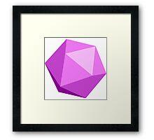 Pink D20 Framed Print