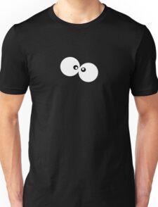 Cartoon Eyes, Googly Eyes - Black White Unisex T-Shirt