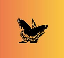 Butterfly silhouette by nicolesoidesign