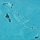 Map Of The Bahamas by TortugaDesigns
