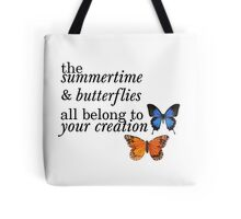 'Olivia' One Direction Lyrics Tote Bag