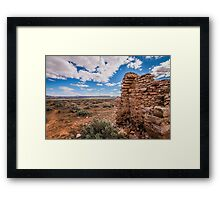 outback ruins Framed Print