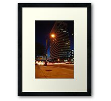 City scene at night Framed Print
