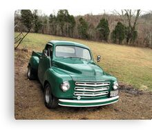 """Studebaker Truck: Put Out to Pasture , 'til the Next Ride""... prints and products Canvas Print"