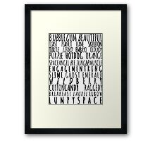 The Adventure Time Princess Song Framed Print