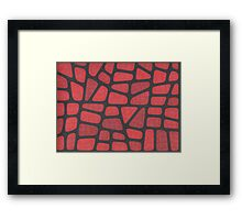 Red Reptile Framed Print