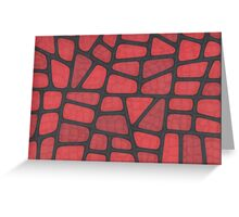 Red Reptile Greeting Card