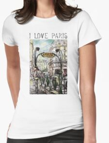 Paris 6 in colour Womens Fitted T-Shirt