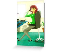 Office Job Greeting Card