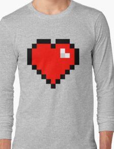 8-Bit Heart Long Sleeve T-Shirt