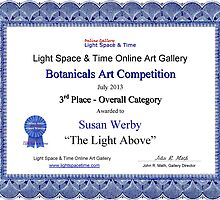 """3rd Place Overall Category-Botanicals Competition-""""The Light Above"""" by Susan Werby"""