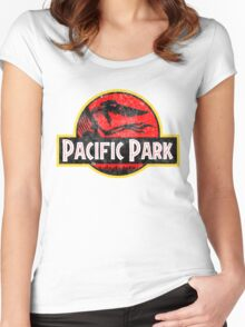 Pacific Park - Jurassic Red Version Women's Fitted Scoop T-Shirt