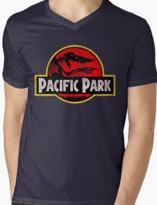 Pacific Park - Jurassic Red Version Mens V-Neck T-Shirt