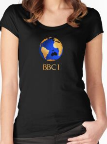 BBC computer originated world (globe) COW logo Women's Fitted Scoop T-Shirt