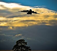 C17 Globemaster Arrival Sunset by andy lewis