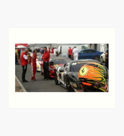 Ferrari Challenge Helmet Art Print