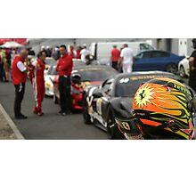 Ferrari Challenge Helmet Photographic Print