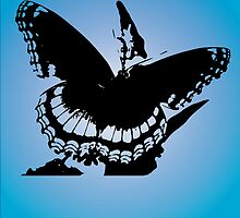 Butterfly silhouette with beautiful quote by nicolesoidesign
