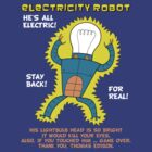 Electricity Robot -- he's all electric -- color by DiabolickalPLAN