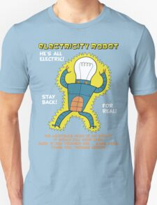 Electricity Robot -- he's all electric -- color Unisex T-Shirt