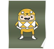 Morphin' Time - Adventure Time Power Rangers Jake Suit Poster