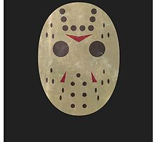 Jason Friday 13th Minimal Print by Tommy Brown