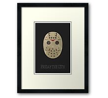 Jason Friday 13th Minimal Print Framed Print