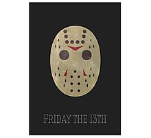 Jason Friday 13th Minimal Print Photographic Print