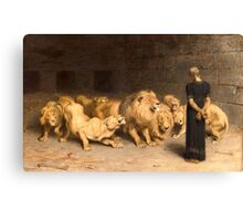 Daniel in the Lions' Den Canvas Print