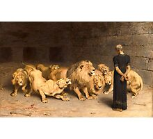 Daniel in the Lions' Den Photographic Print