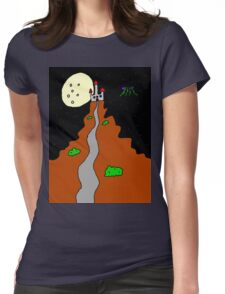 Castle Path at Night Womens Fitted T-Shirt