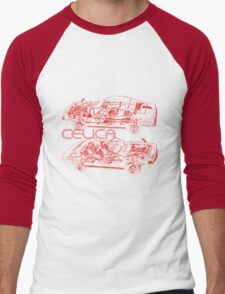 Vintage Celica Cutout Men's Baseball ¾ T-Shirt