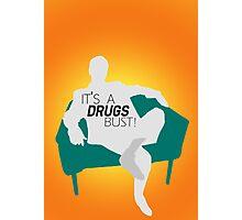 "BBC Sherlock ""It's a drugs bust!"" - Greg Lestrade Photographic Print"