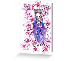 Kimono Gyaru Greeting Card