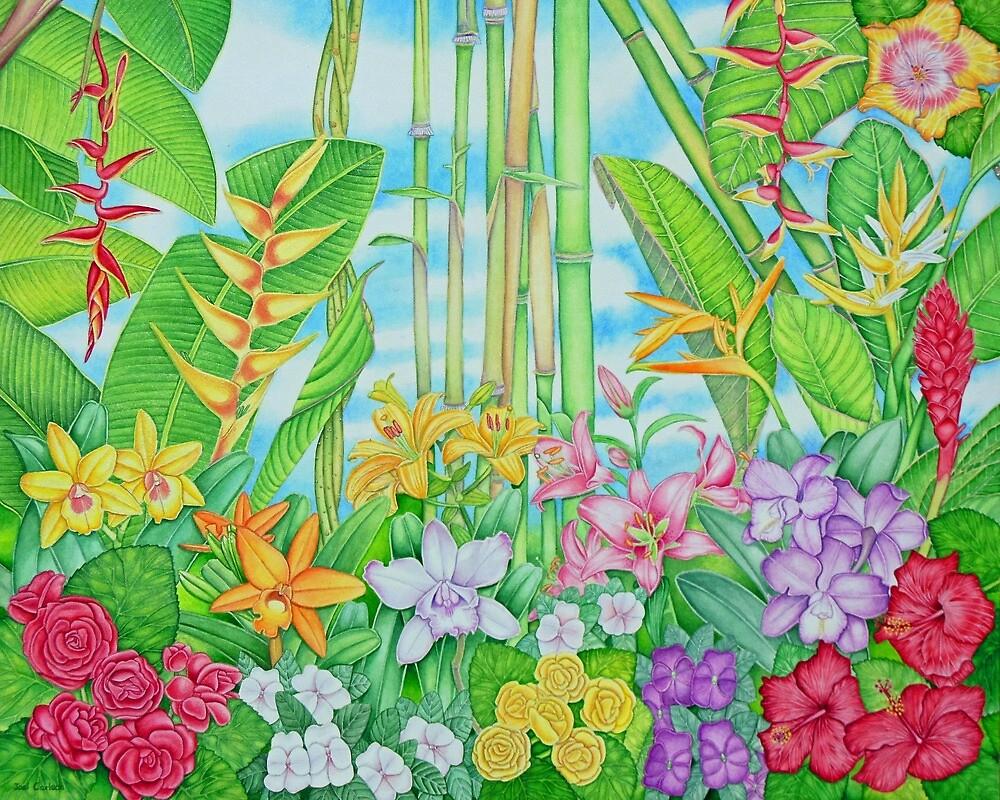 Botanical Tropical Watercolour by joeyartist
